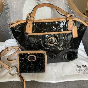 Authentic Coach Handbag and Matching Wallet